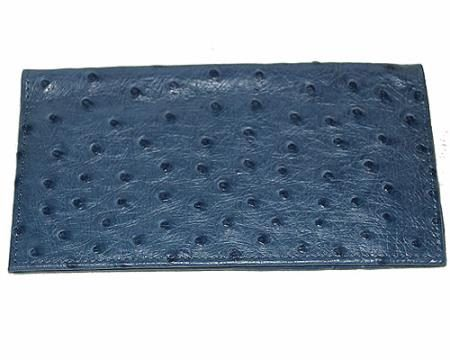 Los Altos Large Ostrich Wallet Navy