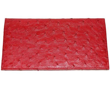 Los Altos Large Ostrich Wallet Red