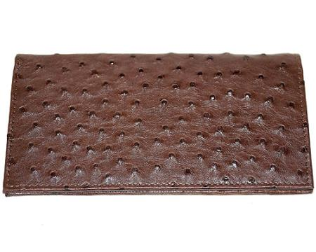 Los Altos Large Ostrich Wallet Tabac