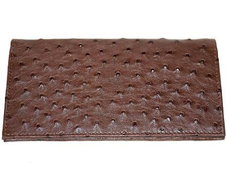 Los Altos Large Ostrich Wallet Tabac