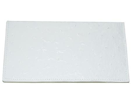 Los Altos Large Ostrich Wallet White