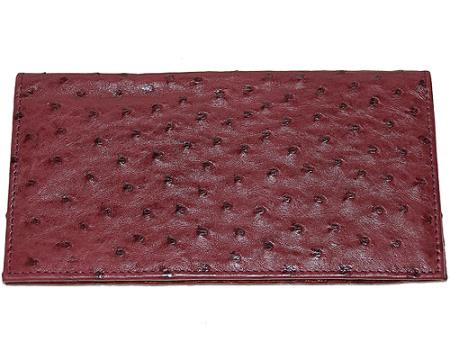 Los Altos Large Ostrich Wallet Wine