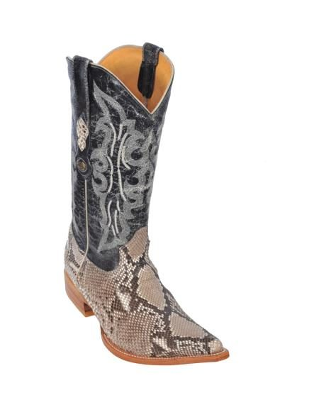 Los Altos Natural Belly Python Cowboy Boots 277