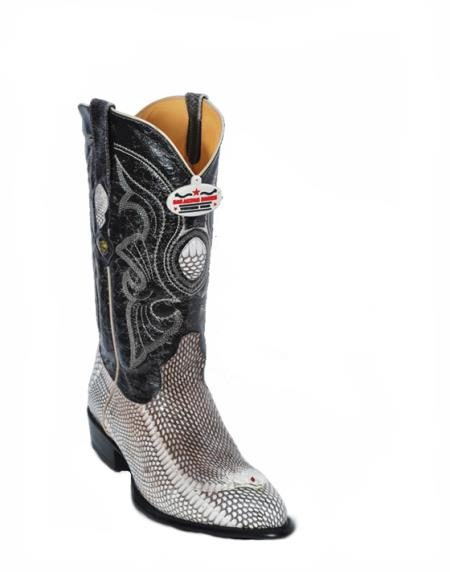 Los Altos Natural Cobra Cowboy Boots with Head 257