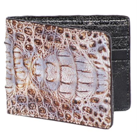 Los Altos Natural Genuine Crocodile Card Holder Wallet