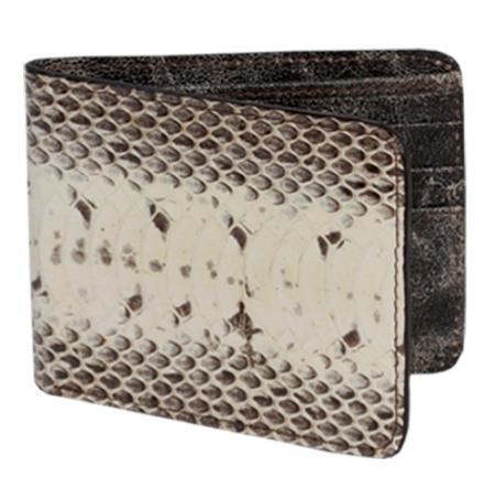 Los Altos Natural Genuine Water Snake Card Holder Wallet