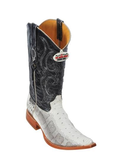 Los Altos Natural Water Snake Cowboy Boots 217