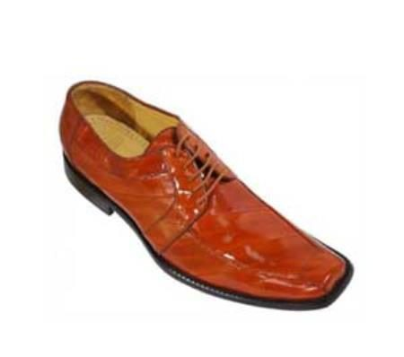 Los Altos Orange AllOver Genuine Eel Shoes