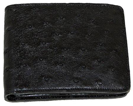 Los Altos Ostrich Wallet Black