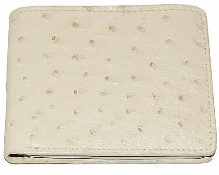 Los Altos Ostrich Wallet Bone