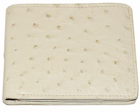 Los Altos Ostrich Wallet Bone