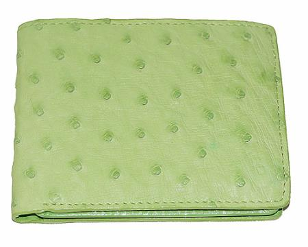 Los Altos Ostrich Wallet Light Lime