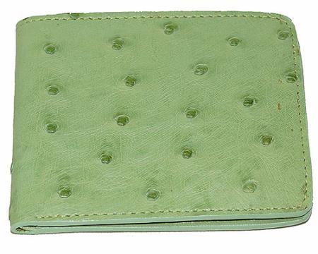 Los Altos Ostrich Wallet Mint Green