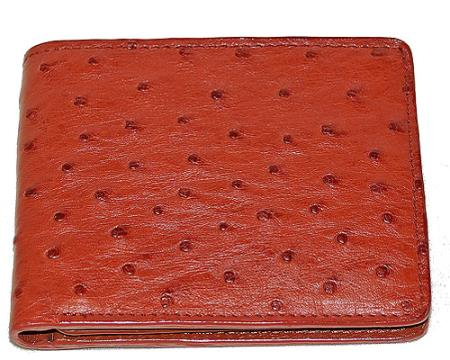 Los Altos Ostrich Wallet Rust