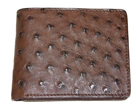 Los Altos Ostrich Wallet Tabac