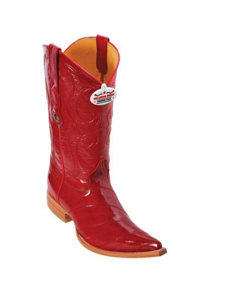 Los Altos Red Eel XXXToe Cowboy Boots