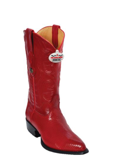 Los Altos Red Ring Lizard JToe Cowboy Boots