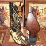 Los Altos Tiger Genuine Stingray Single Stone Western Cowboy Boot (EE)