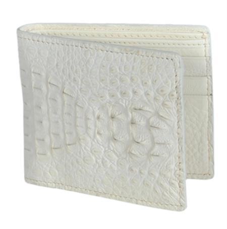 Los Altos WinterWhite Genuine Crocodile Card Holder Wallet