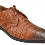 Made In Italy Designer Mauri Los Altos Cognac / Brown Genuine Crocodile / Lizard Shoes