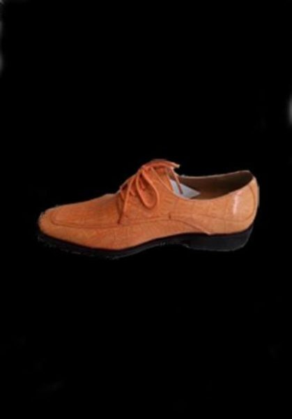 Men's peach dress shoes
