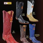 Mens 6X Extreme Toe Sequin Leather Cowboy Western Boots Diff. Colors