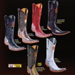 Mens 9X Toe Genuine Ostrich Leg Cowboy Western Fashion Design Boots