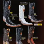Mens 9X Toe Genuine Stingray/Caiman TaCowboy Western Fashion Boots