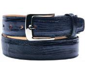 Mens belvedere pasta genuine lizard navy belt