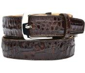 Mens belvedere susa genuine crocodile brown belt