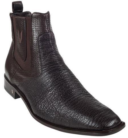 Mens Brown Genuine Shark Dressy Boot 317
