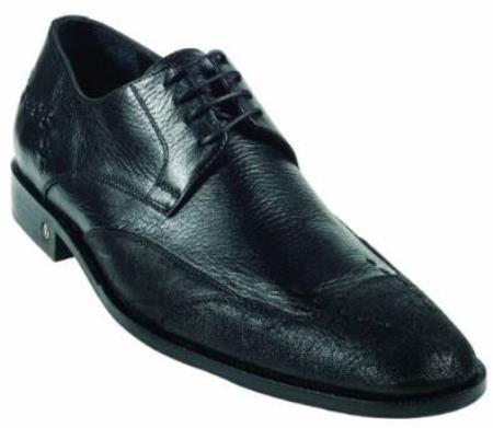 Mens CatShark Skin Black Dress Shoe