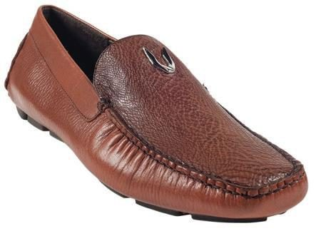Mens Cognac Genuine Shark Driver 277