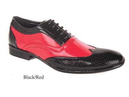 Mens dress Black and Red shoes