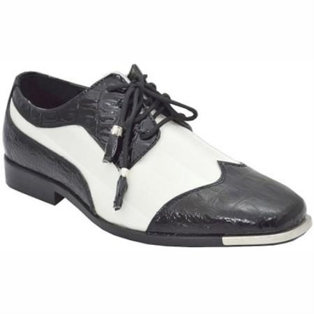 Mens dress shoes black white