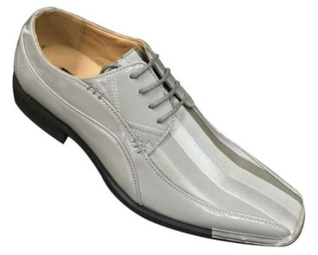 Mens Elegant Synthetic Upper Oxfords Dress shoes Gray