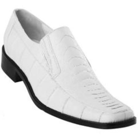 Mens Exotic White Ostrich Leg Split Toe Loafer Shoes