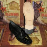 Mens Genuine Authentic Black Caiman Belly & Teju Lizard Dress Shoe