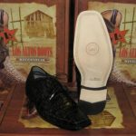 Mens Genuine Authentic Black Caiman Crocodile Dress Shoe
