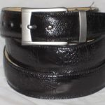 Mens genuine authentic black ostrich leg belt