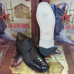 Mens Genuine Authentic Brown Caiman Belly & Teju Lizard Dress Shoe