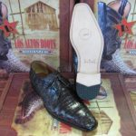 Mens Genuine Authentic Brown Caiman Crocodile Belly Dress Shoe