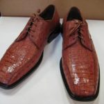 Mens Genuine Authentic Congnac Caiman Crocodile Dress Shoe
