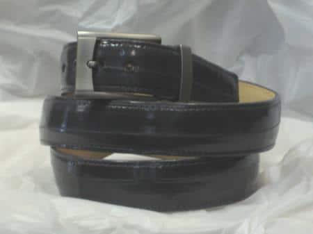 Mens genuine authentic gray eel belt