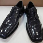 Mens Genuine Authentic Gray Eel Dress Shoe