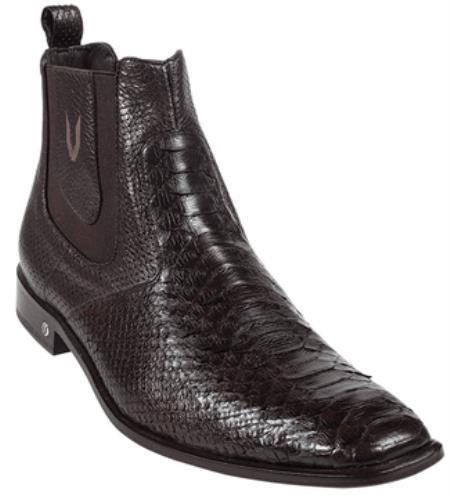 Mens Genuine Brown Python Dressy Boot 317