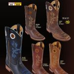 Mens Grasso w/ Leather Sole Rodeo Cowboy Western Boots Diff. Colors