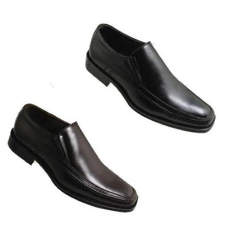 Mens High Quality PU Upper Leather Dress Shoes in Black or Brown