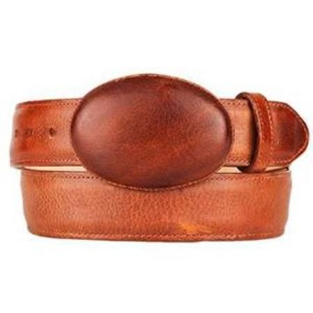 Mens honey original leather western style belt