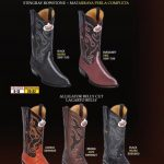Mens JToe Stingray Alligator Print Cowboy Western Boots Diff. Colors